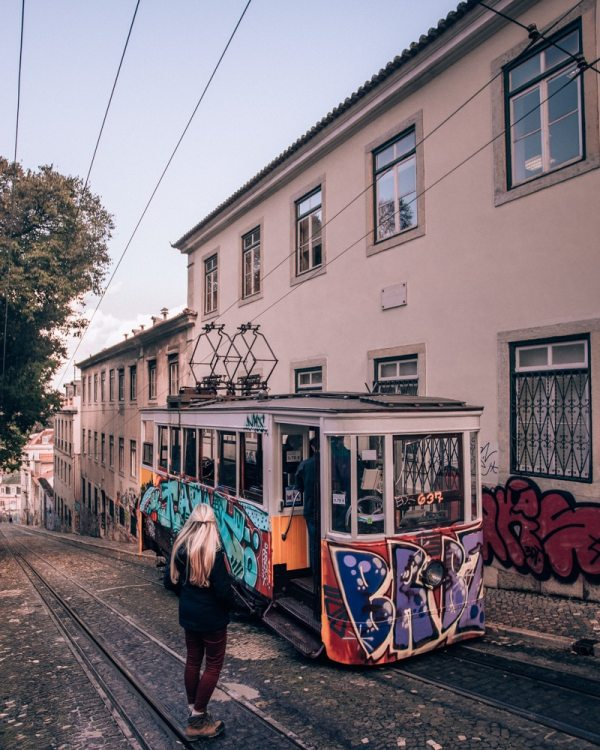 Lisbon streetcars and elevadors. Find the best places in Lisbon for Instagrammable photos and when to go to get them to yourself!