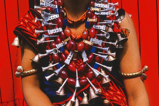A traditional necklace of the Ao tribe of Nagaland. Photo: Thierry Falise/LightRocket via Getty Images