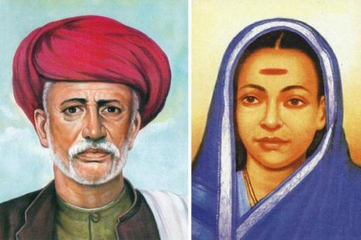Jyotirao Phule (left); and Savitribai. Photo: Wikimedia Commons