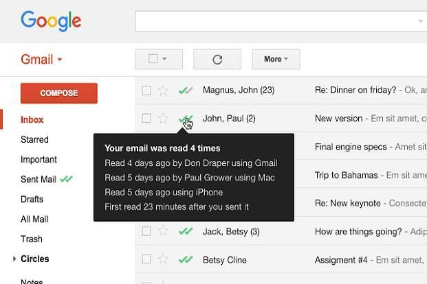 With Mailtrack for Gmail, users can also see the exact time and the number of times the mail was read.