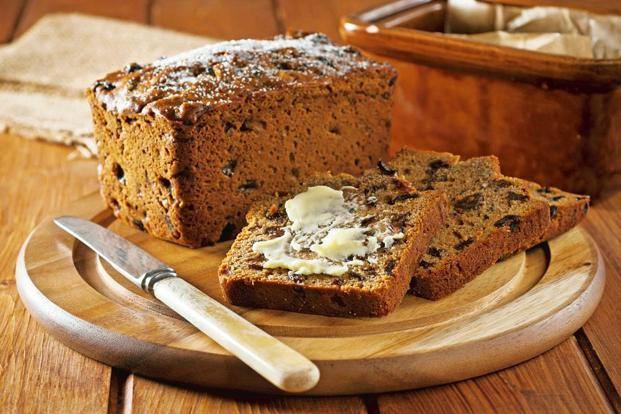 Bakeries advertise Bara Brith, which has made a comeback; and the fruit cake is a popular accompaniment with tea. Photo: Alamy