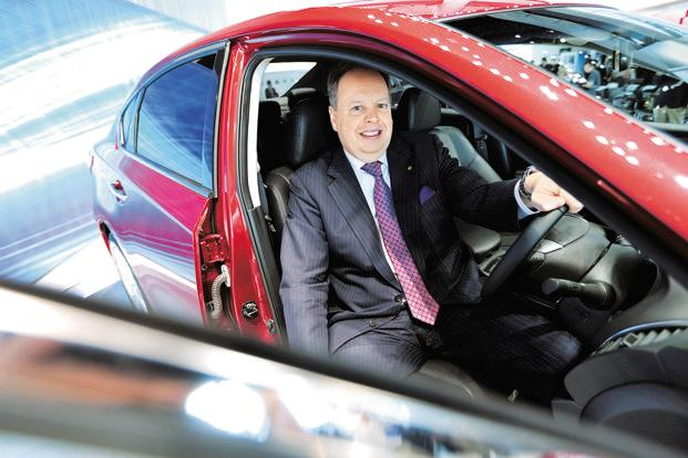 A file photo of Andy Palmer, CEO, Aston Martin. Photo: Bloomberg