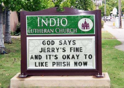 Indio Church Sign