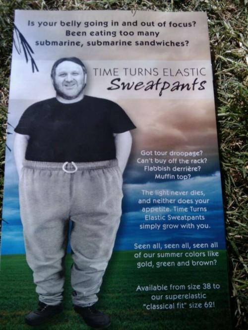 TTE sweatpants ad