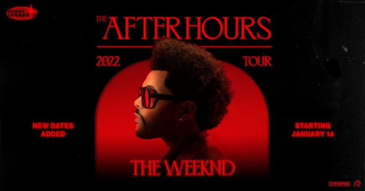 The Weeknd's After Hours World Tour Is Well On Its Way To Selling Over 1  Million Tickets - Live Nation Entertainment