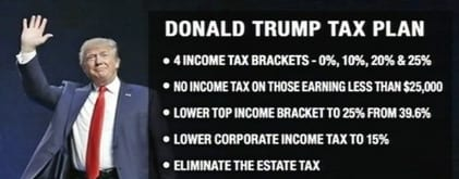 Image result for trump tax cut proposal