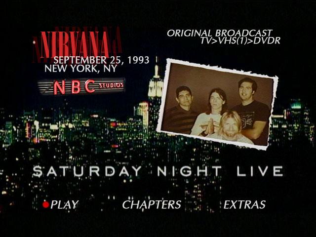 Live Nirvana Live Nirvana Dvd Guide 09 25 93 Nbc
