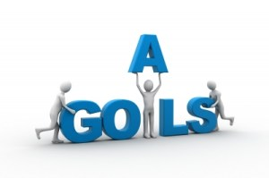 """Graphic of word """"Goals"""""""