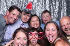 Friends in the photo booth