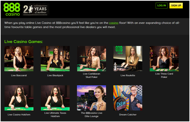 888 Elite Lounge Live Casino