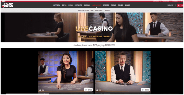 Play Now Live Casino