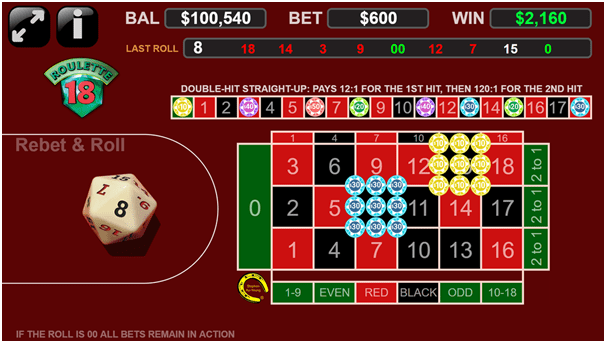 Roulette 18 - How to play