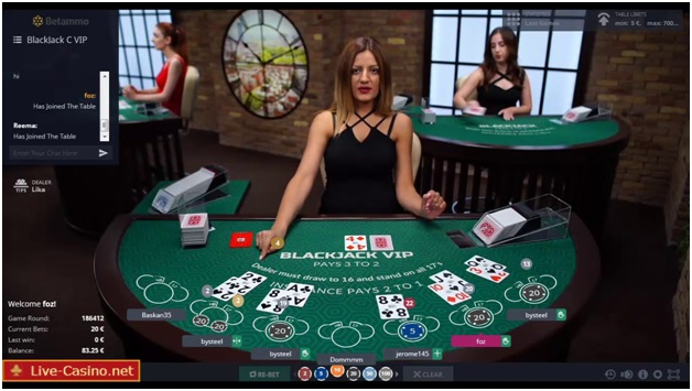 Rules to play Betconstruct Live Blackjack
