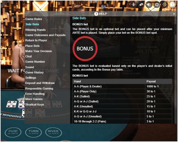 Texas Holdem Bonus Poker