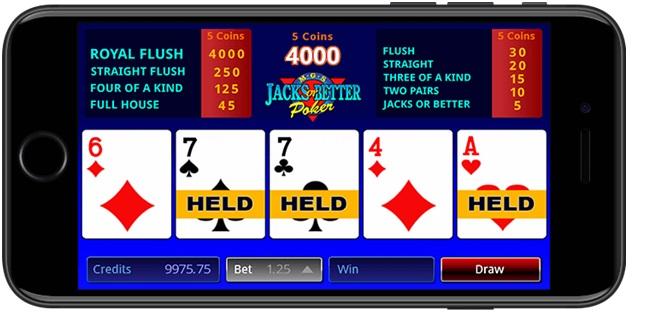 Video poker at Royal Vegas