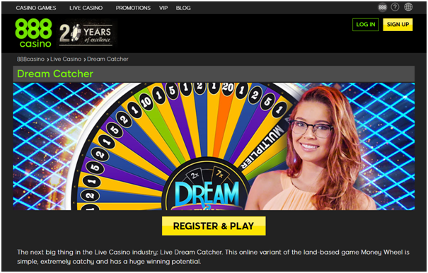 Where to play Dream catcher live casino