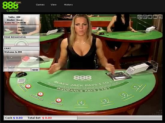 Live Dealer Blackjack at 888 Live