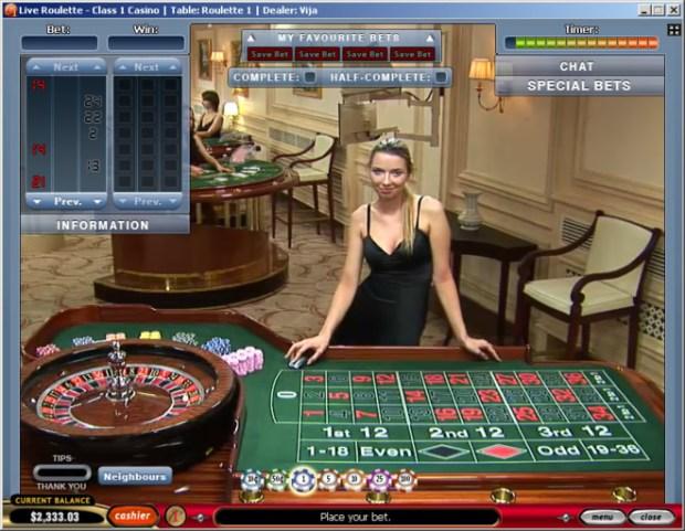 Live Dealer Roulette at Europa Casino