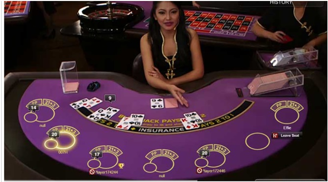 play Live Amber Blackjack online at Casinos