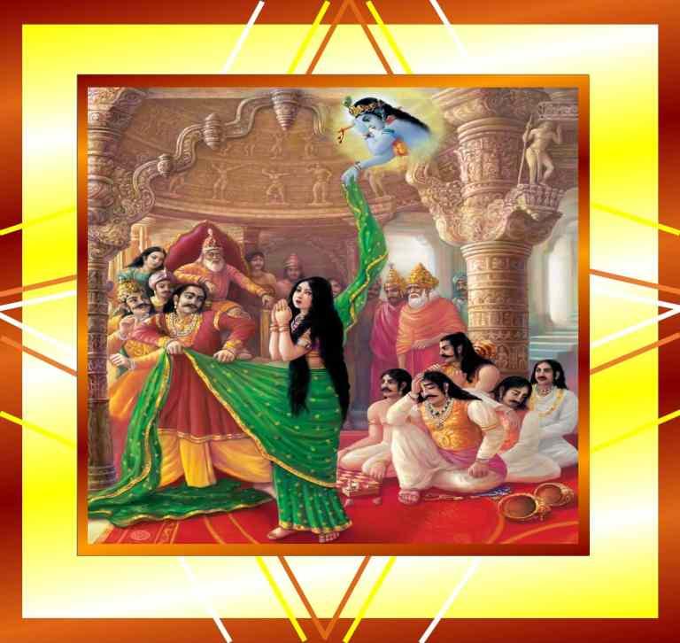Krishna protects Draupadi by giving her Saree on Akshaya Tritiya