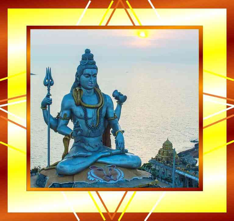 Mahadev Huge Statue in shravan month of rain