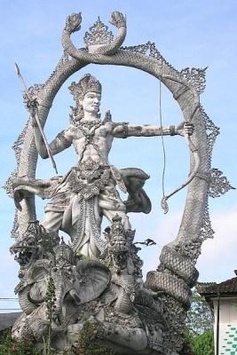 Arjuna in a warrior Pose