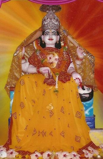 Baglamukhi Mata Idol