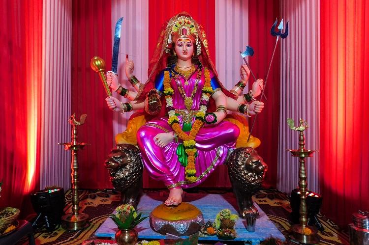 Durga Puja in Temple