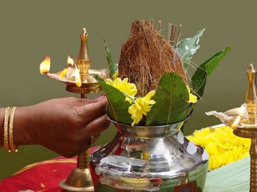 Kalash Puja during Grah Pravesh