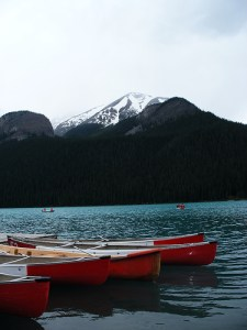 By CPJ Photos - canoes on Lake Louise