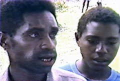 This native eyewitness (left) was interviewed by missionary Jim Blume, concerning the ropen of Papua New Guinea, around Umboi Island