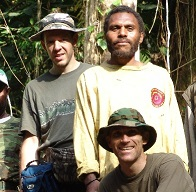 Woetzel and a native and Guessman, on Umboi Island