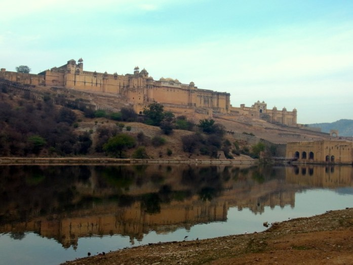 India in Photos: reflections of Amber Fort Jaipur - LiveRecklessly