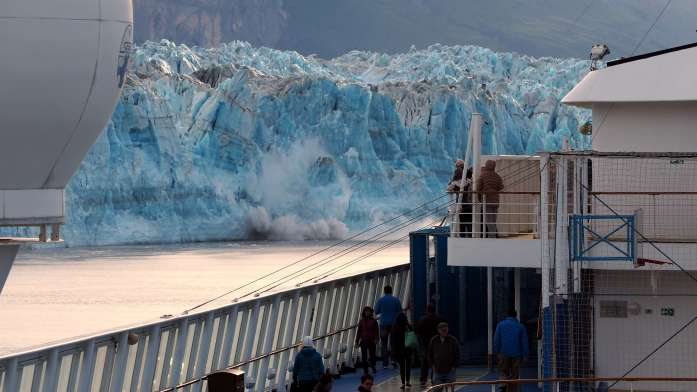 Alaska in Photos - watching glaciers from the ship - Live Recklessly