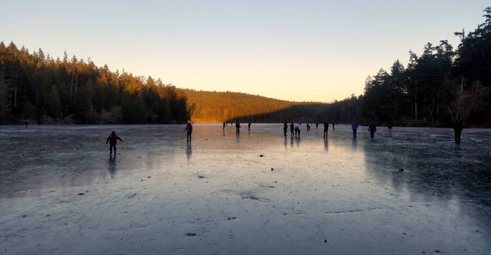 Anacortes Washington Frozen Lake -Expat Escapades January 2017 - Live Recklessly