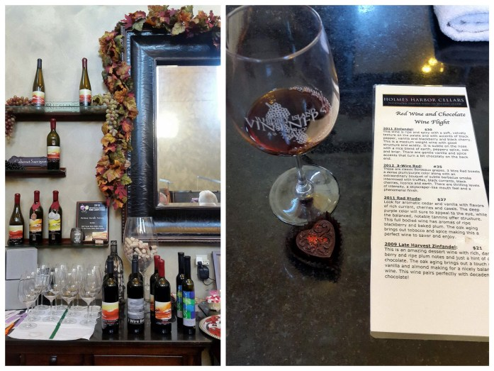 Holmes Harbor Cellars tasting - Red wine and chocolate overload on the Whidbey Island Wine Trail - LiveRecklessly.com