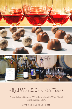 Experience red wine and chocolate overload on the Whidbey Island Wine Trail. This rural island in Washington's Puget Sound has a burgeoning wine scene, showcased in February's delicious wine, spirits and chocolate event. Four wineries and one distillery open their doors. Read more at www.liverecklessly.com
