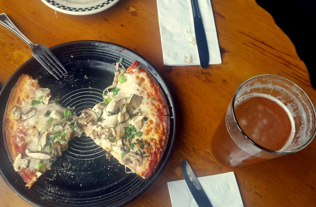 Drinks - La Conner Brewing beer and pizza - Ultimate Weekend Guide to La Conner Washington - Live Recklessly