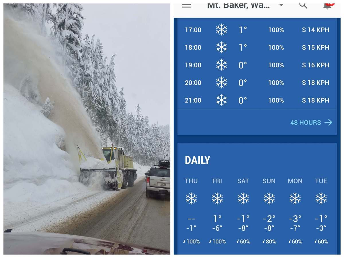 Driving to Mt Baker with plenty of snow - Live Recklessly