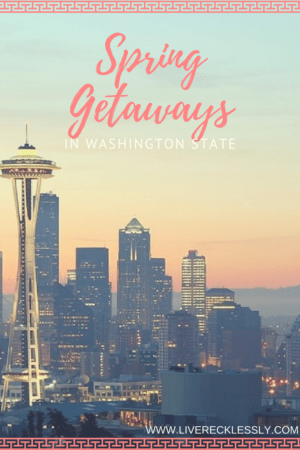 Spring has sprung in the USA! Make the most of the sunshine and warmer weather with these sweet spring weekend escapes in Washington State. Enjoy Seattle, some beautiful islands, fields of flowers and epic three day music festivals. Read more at www.liverecklessly.com #USA #WashingtonState #Seattle #weekendgetaway