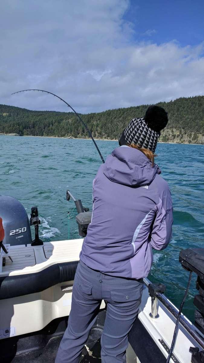 Dani Salmon fishing in the San Juan Islands Washington State - Live Recklessly