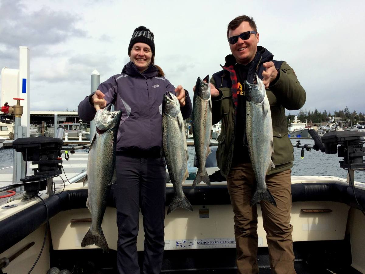 Our catch of the day Salmon fishing in the San Juan Islands Washington State - Live Recklessly
