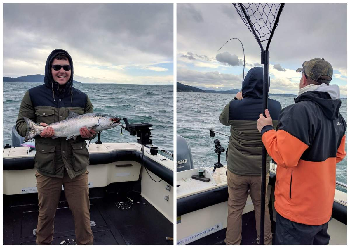 Tom fishing Salmon fishing in the San Juan Islands Washington State - Live Recklessly