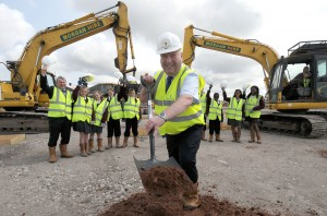 Mayor Joe Anderson starts work on the site
