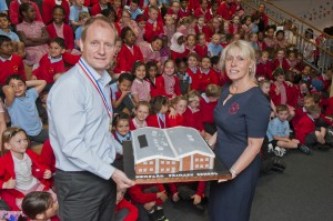 Paul Galloway Morgan Sindall and Karen Hutchings headteacher at New Park