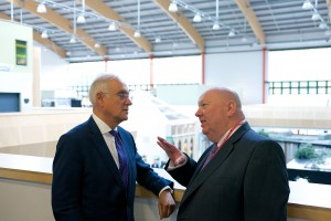 Ofsted Chief Inspector Sir Michael Wilshaw and Mayor Joe Anderson at Notre Dame Catholic College