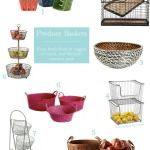Storage Baskets For Fresh Fruits and Veggies
