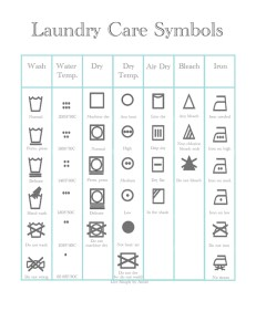 Click Here To View Print Laundry Care Symbols Printable