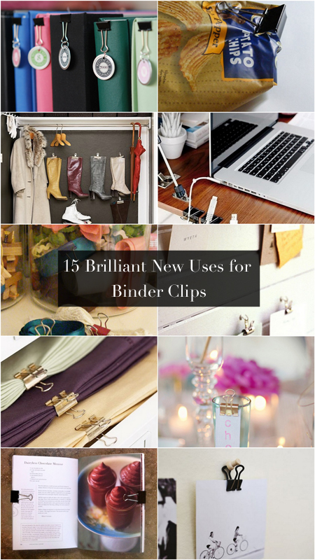 15 brilliant new uses for binder clips live simply by annie. Black Bedroom Furniture Sets. Home Design Ideas