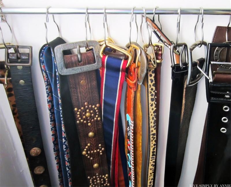 ... Organizing The Art Studio · Madrona Master Closet Organization: DIY Belt  Hanger